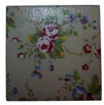 Ceramic Wall Tiles Made With Cath Kidston Summer Blossom in Stone